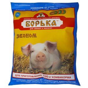Борька эконом премикс концентрат для свиней и поросят 500г
