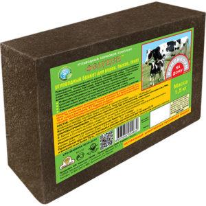 Фелуцен углеводный брикет для коров, быков и телят 1,5кг