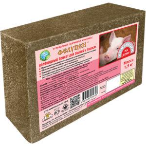 Фелуцен углеводный брикет для свиней и поросят 1,5кг