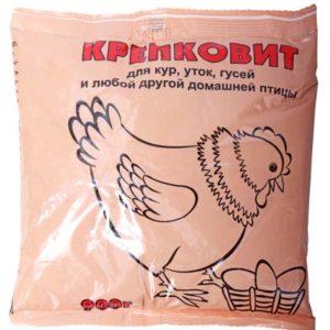 КРЕПКОВИТ (для кур, уток, гусей) 900 г 10 штук-место цветной пакет