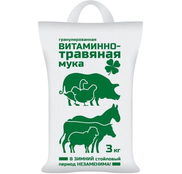 МУКА витаминно-травяная 3кг, 3шт-м ВХ