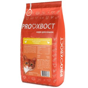 Прохвост сухой корм для кошек Курица 10кг