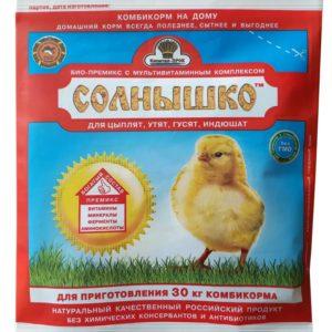 Премикс Солнышко для молодняка кур, уток, гусей от 1-3 недель 150г